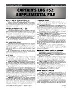 Captain's Log #52 Supplement