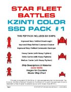 Star Fleet Battles: Kzinti Color SSD Pack #1