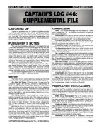 Captain's Log #46 Supplement