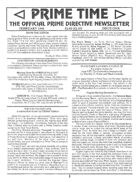 PD One: Prime Time Newsletter #1-#6