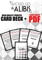 Wicked Lies & Alibis Card Deck + Core Rules PDF