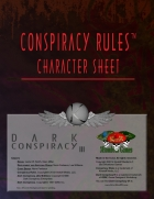 Conspiracy Rules Character Sheet