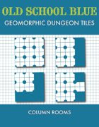 Old School Blue Geomorphic Tiles - Columns