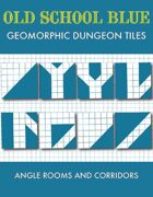 Old School Blue Geomorphic Tiles - Angle