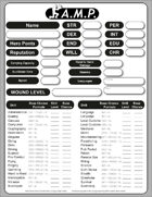 Action Movie Physics Fillable Character Sheet