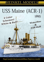 1/200 USS Maine (ACR-1) 1895 - Paper Model