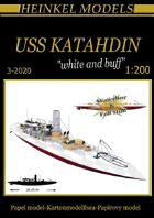 1200 USS Katahdin White & Buff  Scheme Paper Model