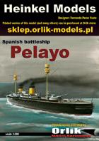 1:200  Spanish Battleship Pelayo papermodel