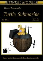1/12 David Bushnell's Turtle Submarine Paper Model