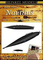 1:100 (68cm) Jules Verne Nautilus paper model