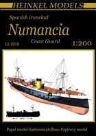 1:200  Spanish ironclad Numancia Full-hull