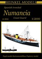 1/200 Spanish ironclad Numancia Waterline Paper Model