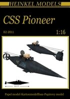 1/16 CSS Pioneer Submarine Paper Model
