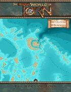 Turtleback Reef 100 x 100 miles: A Torn World Overland Map