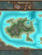 An Gearesdan 20 x 20 miles: A Torn World Overland Map