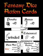 Fantasy Dice Action Cards