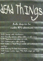 Dead Things: End of the world sound drop-ins
