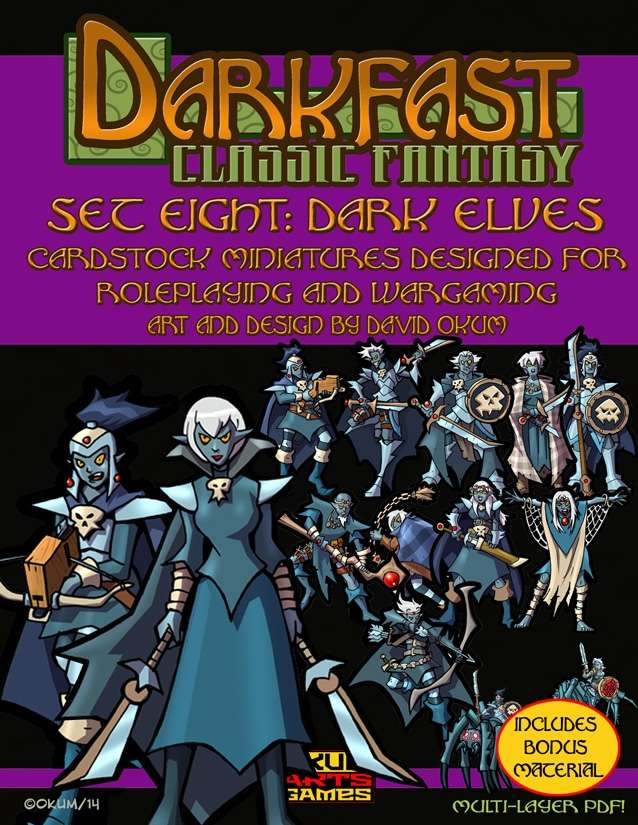 Darkfast Classic Fantasy Set Eight: Dark Elves