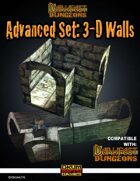 Darkfast Dungeons: Advanced Set_3D Walls