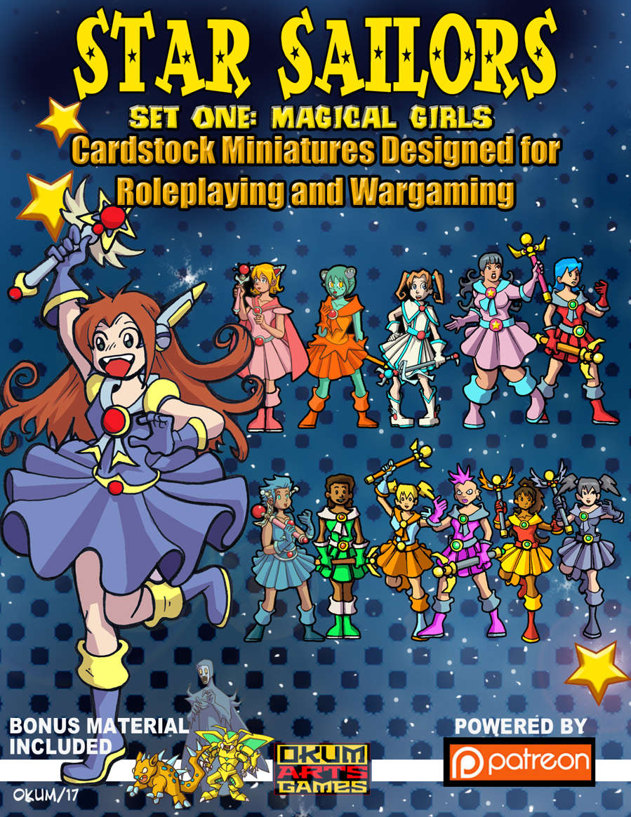 Star Sailors Paper Minis For Your Magical Girl Anime Needs
