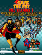 Vile Villains Paper Minis Set One