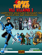 Vile Villains Paper Minis Set Three
