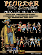 Plunder: Pirate Adventures Paper Miniature Pirates Set One