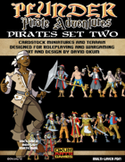 Plunder: Pirate Adventures Paper Miniature Pirates Set Two
