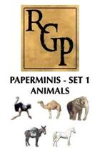 RGP004 - Paper Minis - Set 1: Animals