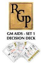 GM Aids Set 1: Decision Deck