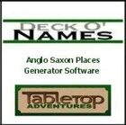 Deck O' Names Anglo Saxon Places Generator