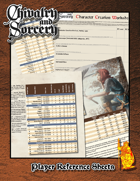Chivalry & Sorcery 5th Edition Player Aid 1 - Skills List and Difficulty Table