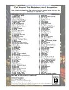100 Names For Mobsters and Associates
