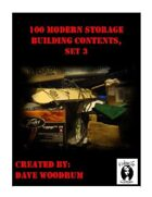 100 Modern Storage Building Contents, Set 3