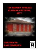 100 Modern Storage Building Contents, Set 7