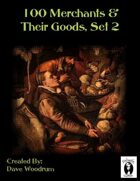 100 Merchants & Their Goods, Set 2