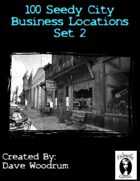 100 Seedy City Business Locations Set 2