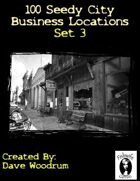100 Seedy City Business Locations Set 3