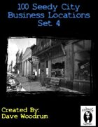 100 Seedy City Business Locations Set 4