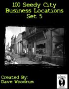 100 Seedy City Business Locations Set 5