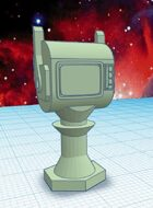 Alien Dollhouse: Martian TV (STL Model)