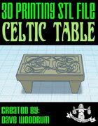 Celtic Table (STL 3D Print File)
