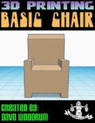 Basic Chair (STL 3d Print File)