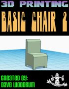 Basic Chair 2 (STL 3d Print File)