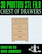 Chest Of Drawers (3d Print File)