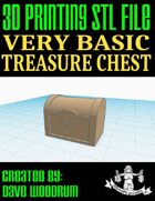 Very Basic Treasure Chest (3d Print File)