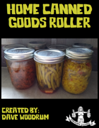 Home Canned Goods Roller