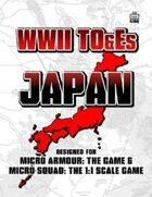 WWII TO&Es - Japan