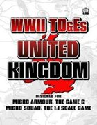 WWII TO&Es - United Kingdom