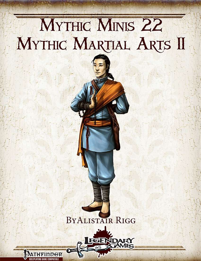 Mythic Minis 22: Mythic Martial Arts II